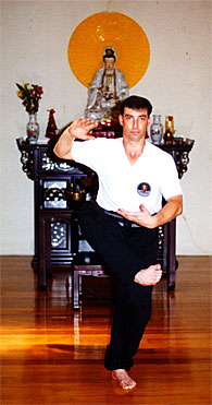 Disciple Training Chamber - Alan performing the Art of Wuji